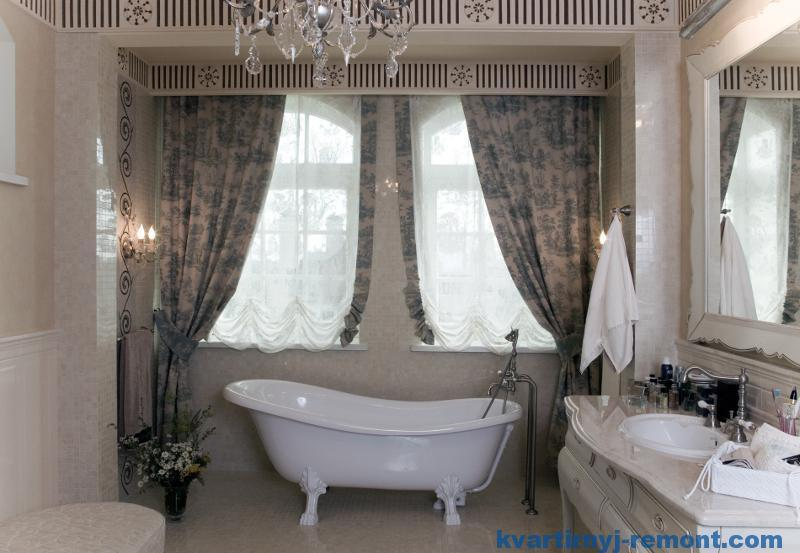 Штора в ванной комнате
