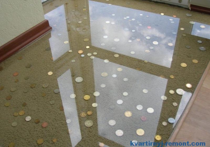 Монетки в полу