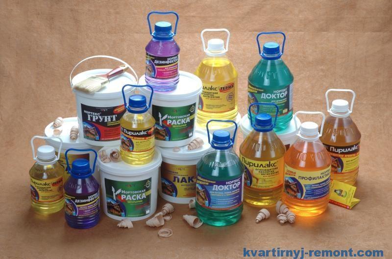 Варианты пропитки и антисептиков