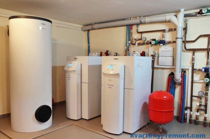 Установленная система автономного отопления
