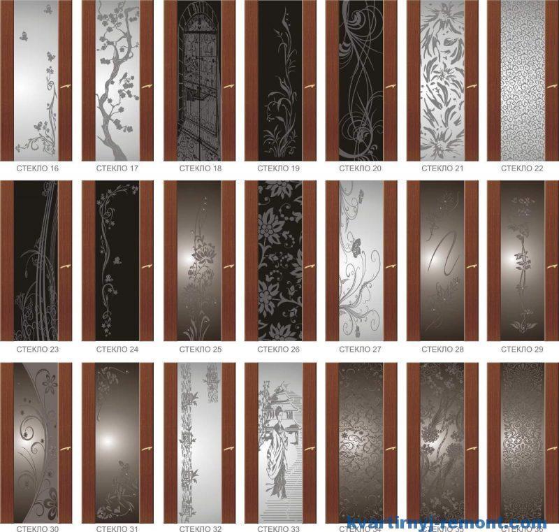 Варианты остекления дверей трипликсом