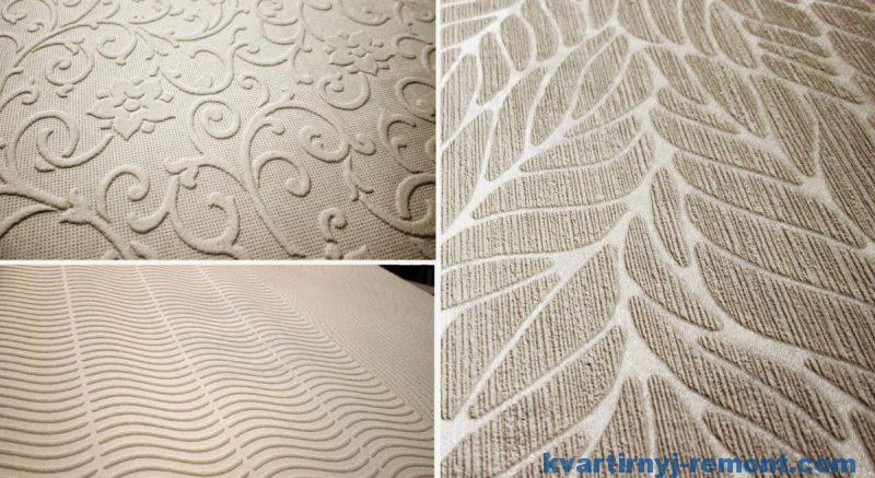 Пример текстур обоев под покраску