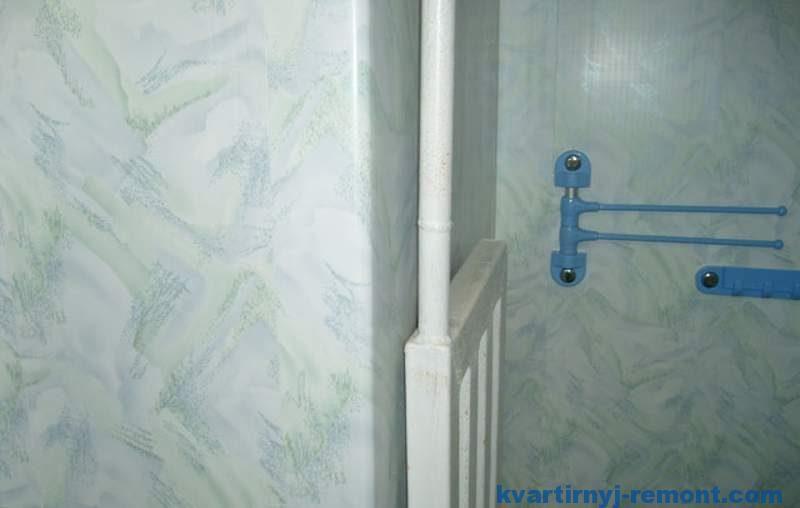 Закругление ПВХ панели на стене