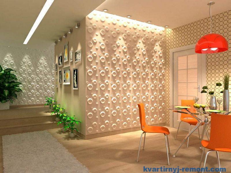 Декоративные панели ПВХ в интерьере
