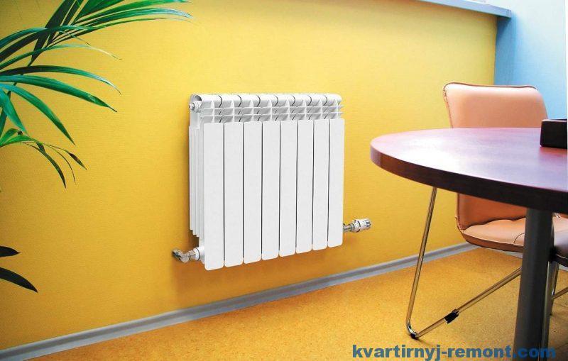 Новый биметаллический радиатор в квартире