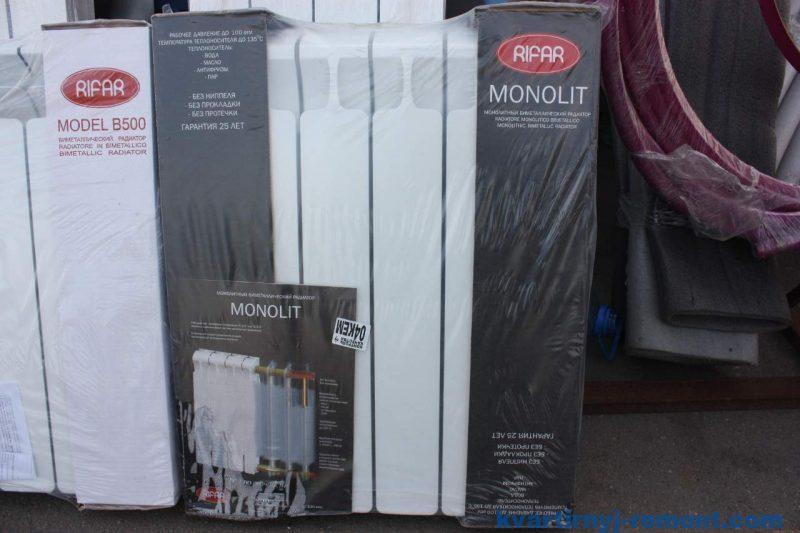 Биметаллические радиаторы отопления Rifar Monolit
