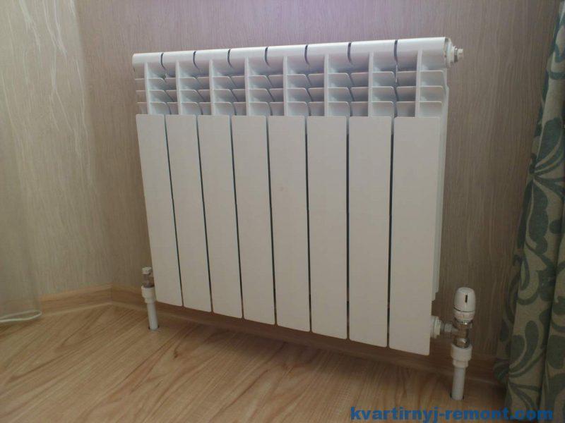 Монтаж радиатора отоления