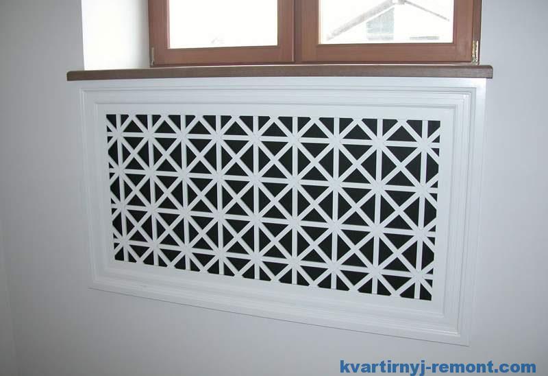 Радиатор отопления спрятан в стене