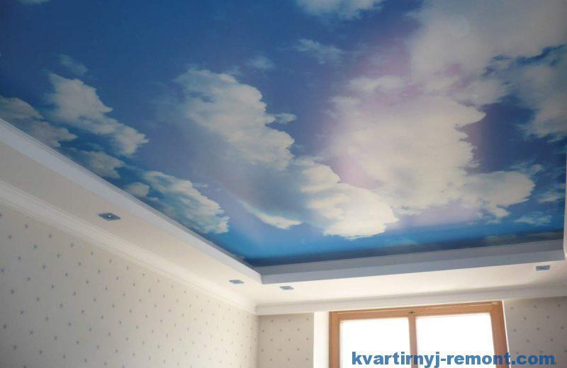 Рисунок на натяжном тканевом потолке