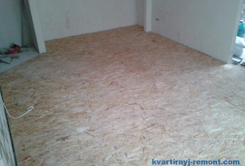 Ровняем деревянный пол osb плитами