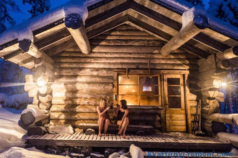 Как насладится зимой в финской бане