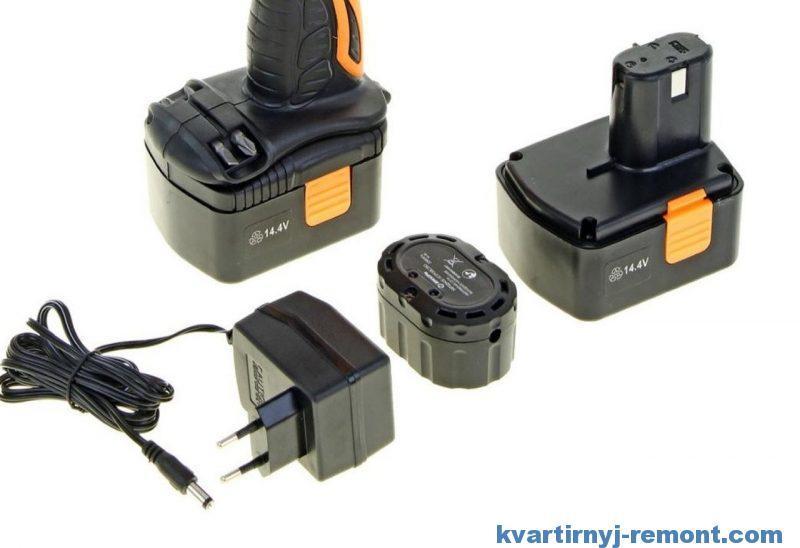 Аккумулятор и зарядка для шуруповерта