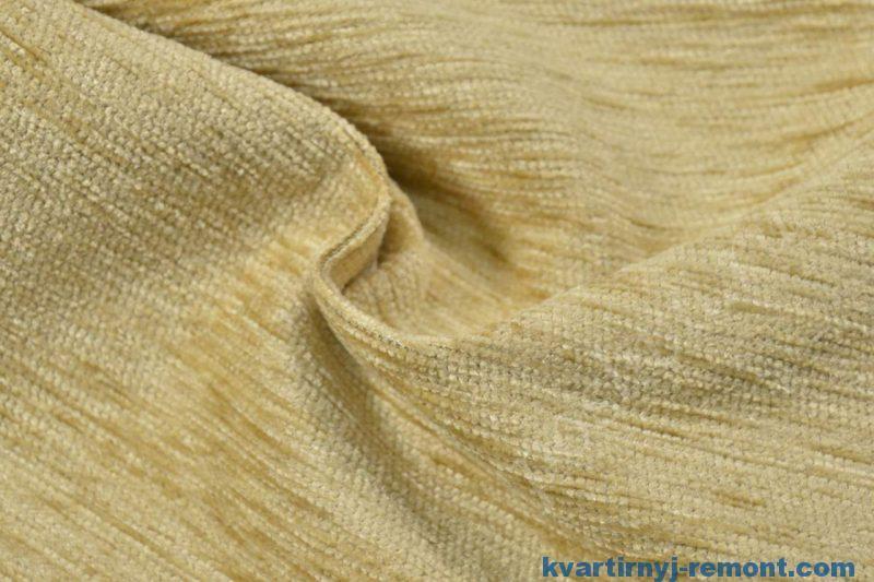 Ткань для мебели шенилл светло-бежевого оттенка