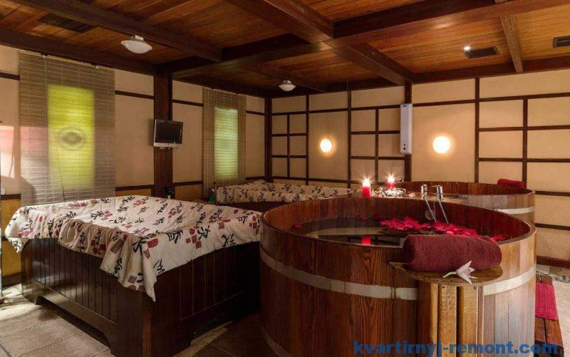 Японская баня Офуро из кедра