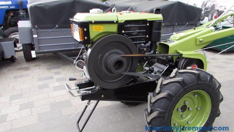 Дизельный мотоблок Зубр JR Q79, ручной стартер, 10 л.с.