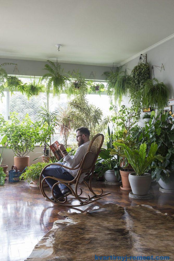Отдых дома в зимнем саду