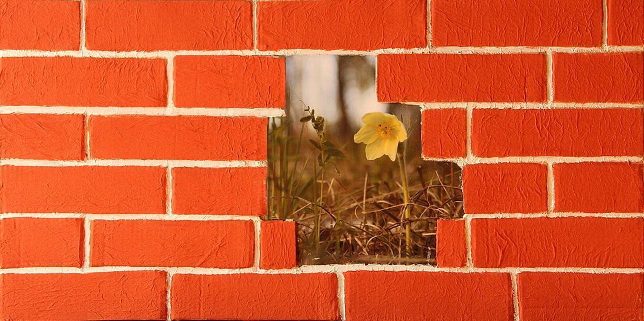 Декорирование стен «под кирпич». Фото-инструкция.