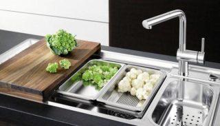 Современная кухонная мойка: внешний вид, материал, установка