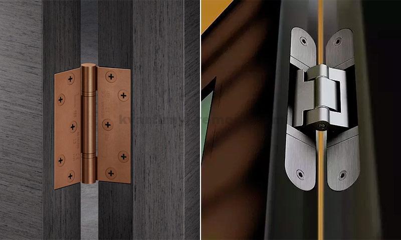 Виды межкомнатных дверных петель