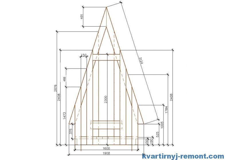 Схема туалета избушки на дачу