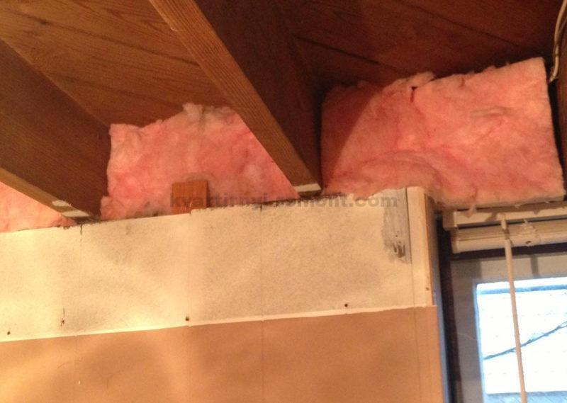 insulation-of-the-ceiling-in-the-basement
