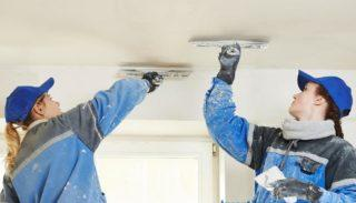 Финишная шпаклевка потолка под покраску