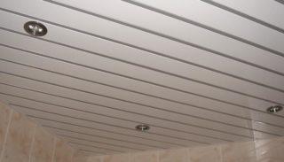 Реечные потолки в ванной комнате