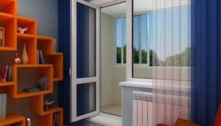 Пластиковые двери REXAU на балкон