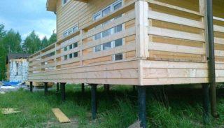 Выбор фундамента для дома из бревна
