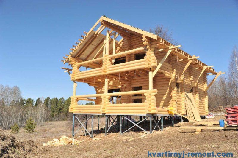 Свайный фундамент деревянного дома