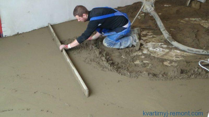 Расход цемента для стяжки