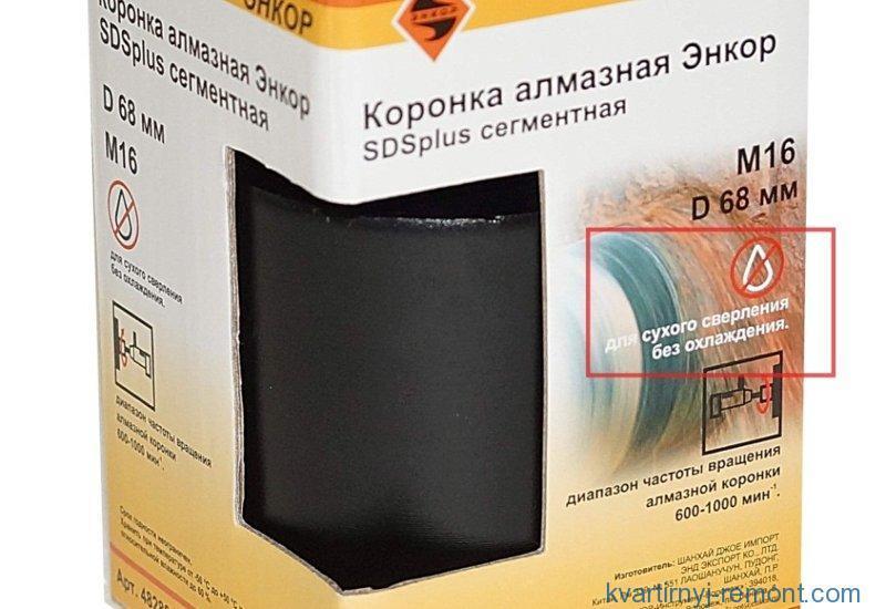 Рекомендации на коробке