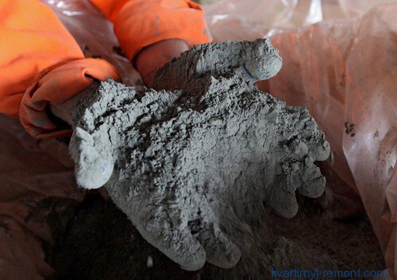 Рассыпчатый цемент