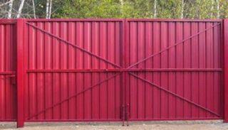 Калькулятор длины полосы на ворота из профнастила