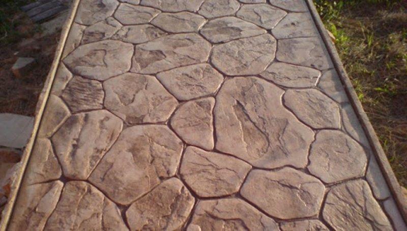 Печатный бетон своими руками - легко!