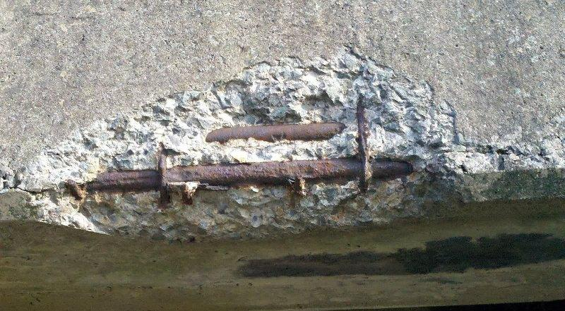Разрушение печатного бетона