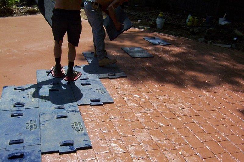 Создание рельефа на бетоне
