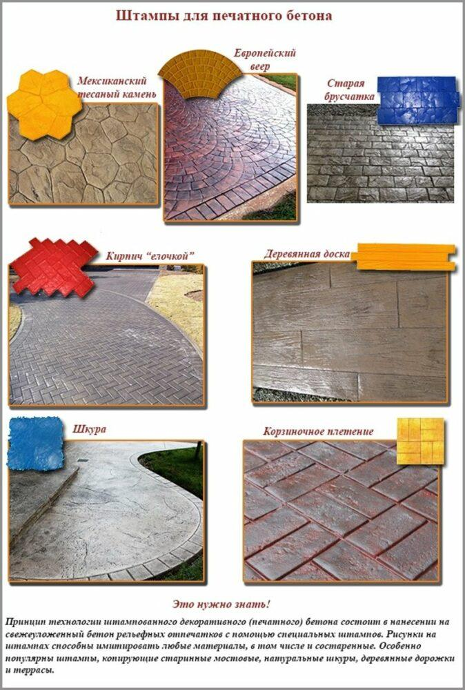 Какими бывают штампы для бетона