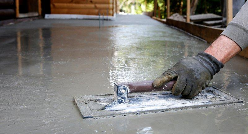 Железнение поверхности бетона