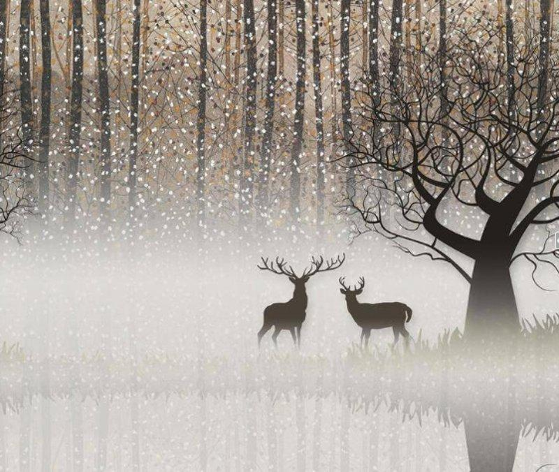 Фото 5. Олени в тумане. арт.37012