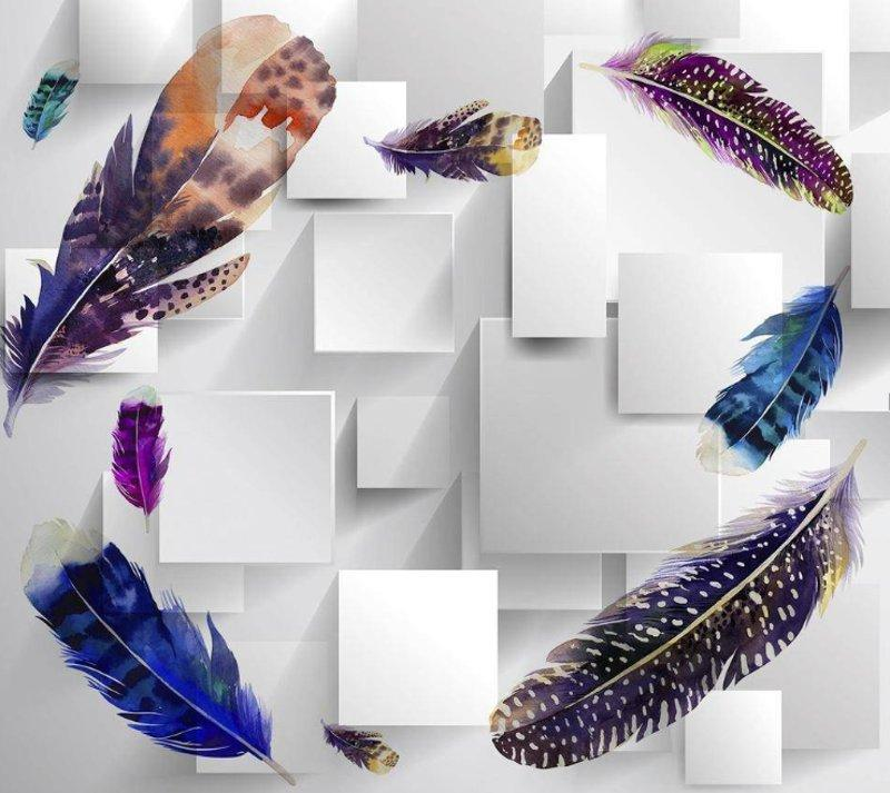 Фото 6. Цветные перья. арт. 36426