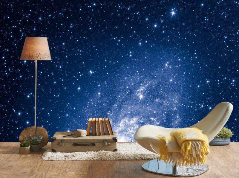Посреди галактики в окружении звезд