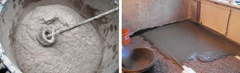 Цементный раствор при стяжке