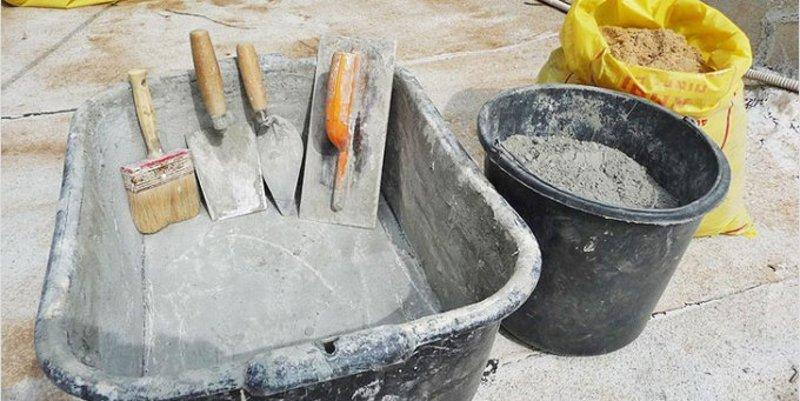Глубокое корыто для бетона