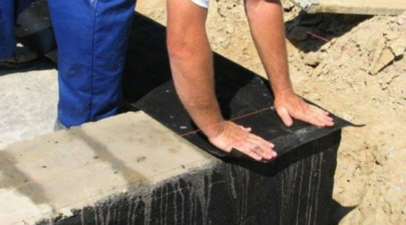 Укладка гидроизоляции
