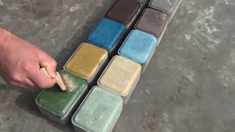 Покраска готового бетона