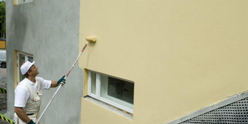 Как красить бетонные стены