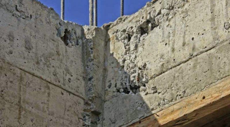 Была плохая пластичность бетона