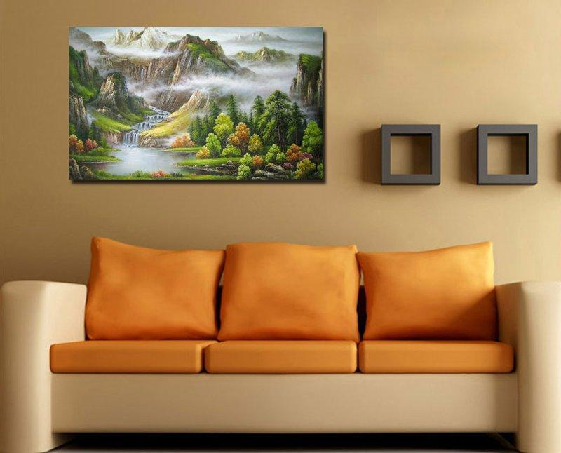 Картины на холсте в интерьере