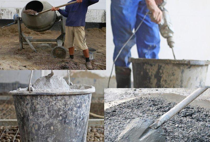 В чем и чем замешивают бетонную смесь